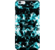 Electrifying blue sparkly triangle flames iPhone Case/Skin