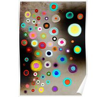 Poppies colorful Snow Landscape Poster