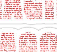 IMAGINE DRAGONS RED Sticker