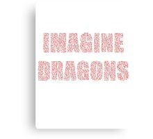 IMAGINE DRAGONS RED Canvas Print