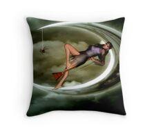 bewitched pose Throw Pillow