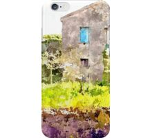 Laureana Cilento: house and flowering trees iPhone Case/Skin