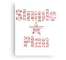 SIMPLE PLAN RED Canvas Print
