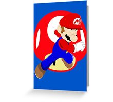 Super Smash Bros Mario Greeting Card