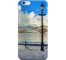 The Boathouse Steps in the Snow iPhone Case/Skin