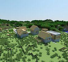 The Village - Minecraft Landscape by popartforfun