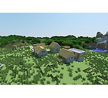 The Village - Minecraft Landscape Photographic Print