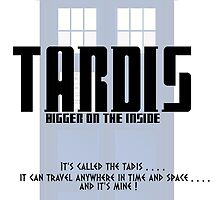 The Tardis Bigger on the Inside by RonohDesigns