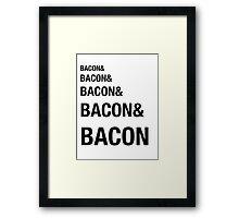 Funny Bacon Ampersands Shirt Humor Nerdy Framed Print