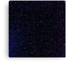 Blue and Purple Spacey Canvas Print