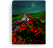 Poppy Picker Canvas Print