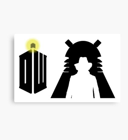 Doctor Who Pattern 3 Canvas Print