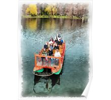 Swan Boats Boston Public Gardens Poster