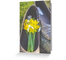 Flowers n Shoes Greeting Card