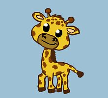 Baby Giraffe Cartoon Womens Fitted T-Shirt