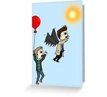 Icarus Cas Greeting Card