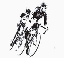 Bike Racers into the Curve B&W -1 by Buckwhite
