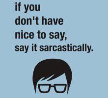 Sarcasm Hipster Funny Glasses Saying Meme Kids Tee