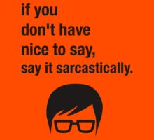 Sarcasm Hipster Funny Glasses Saying Meme Kids Tee