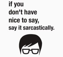 Sarcasm Hipster Funny Glasses Saying Meme Kids Clothes