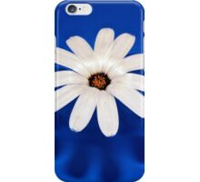 Flower On Blue #1 iPhone Case/Skin