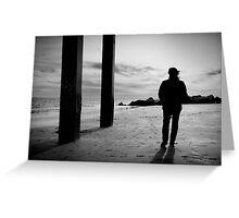 Stroll on the beach Greeting Card