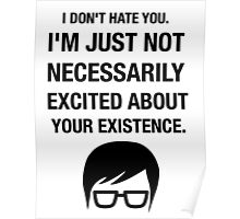 Insult Funny Hipster Irony Sarcasm Humor Glasses Poster