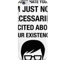 Insult Funny Hipster Irony Sarcasm Humor Glasses iPhone Case/Skin