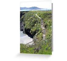 Steps to Marin Headlands Greeting Card