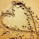 Heart in Sand by crossmark