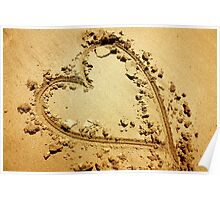 Heart in Sand Poster
