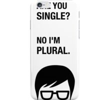 Hipster Shirt Funny Dating Single Sarcasm Humor iPhone Case/Skin