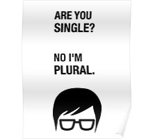 Hipster Shirt Funny Dating Single Sarcasm Humor Poster
