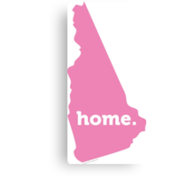 New Hampshire Home Pink Canvas Print