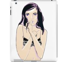 lingerie girl iPad Case/Skin