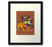 Tepig Evolution Framed Print