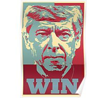 Arsene Wenger in the style of Obama  Poster