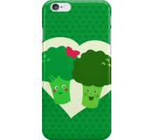 Broccoli in love iPhone Case/Skin