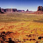 Monument Valley from Artist's Point by Roger Passman