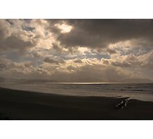 An Irish Beach at Sunset Photographic Print
