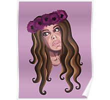 Crown Me in Florals Poster