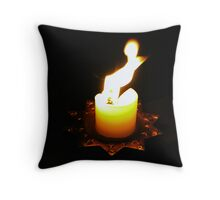 The Angel & the Flame! Throw Pillow