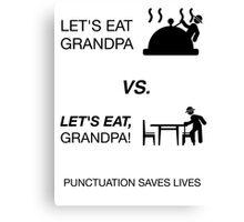 Humor Funny Grandpa Grammar Shirt Nerdy Tee Canvas Print