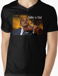 Fiddler in Chief Mens V-Neck T-Shirt