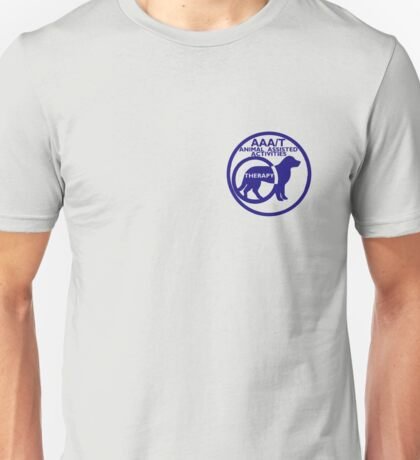 Therapy dog animal asisted activities logo blue  Unisex T-Shirt