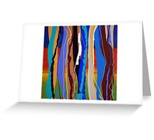 Behind Vertical Stripes - Original SOLD Greeting Card