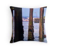 Piers Beyond Pier Throw Pillow