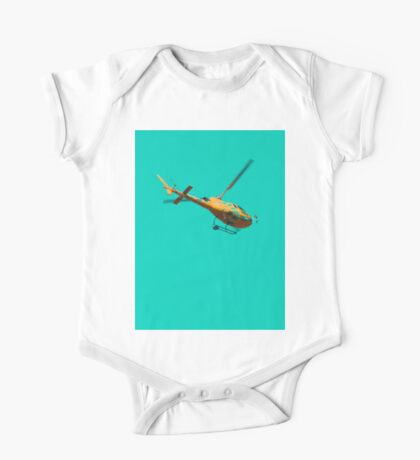 Yellow helicopter One Piece - Short Sleeve