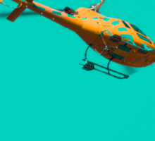 Yellow helicopter Sticker