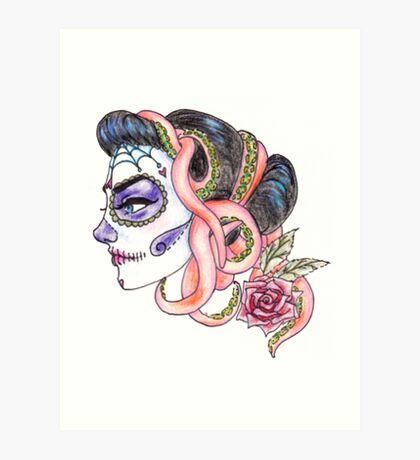 senorita de los muertos Art Print